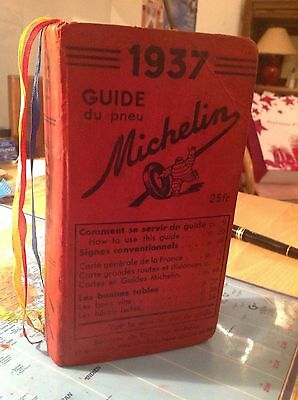 TRES Beau guide rouge  Michelin 1937