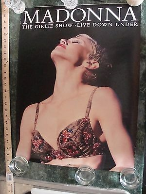 """Madonna """"The Girlie Show - Live Down Under"""" Rare Poster 24"""" x 18"""""""