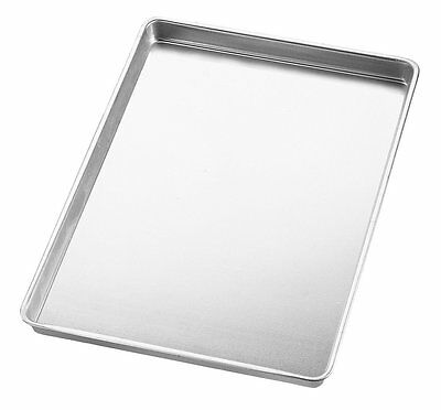 Wilton Aluminum Silver Medium Size 1 Inch Deep Jelly Roll and Cookie Kitchen Pan