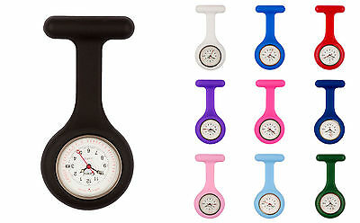 Censi Silicone Doctor Nurse FOB Watch Tunic Brooch Date on Dial Analog Quartz