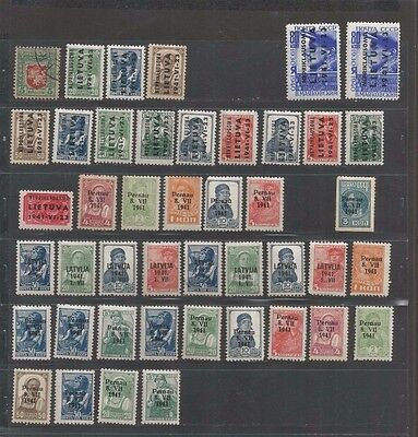JAN 056 Lithuania - Lietuva Russian Occupation Surcharged stamps CCCP MNH/MH