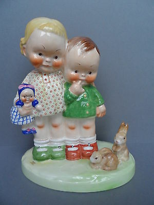 """Very Rare original Shelley Mabel Lucie Attwell """"Our pets"""" LA19 figurine. C.1937."""
