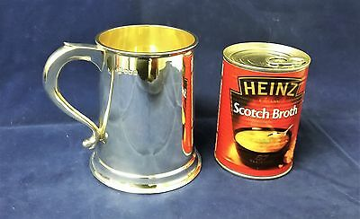 lovely antique style solid silver pint tankard 1973 Sterling Silverware Ltd 322g