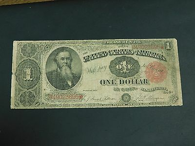 1891 U.S. Treasury Note, Rare $1 Note!! See Listing!