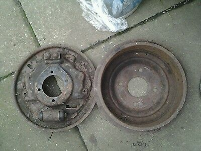 ford capri 2 8 rear brake drum and backing plate