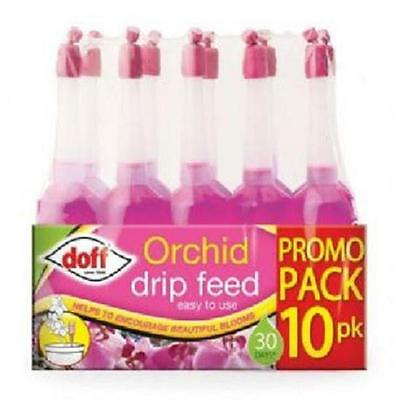 New Pack 10 Orchid Plant Feed Drip Feeders Doff Brand