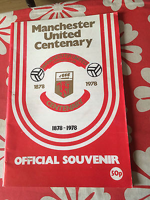 Manchester united centenary programme 1978 v Real Madrid