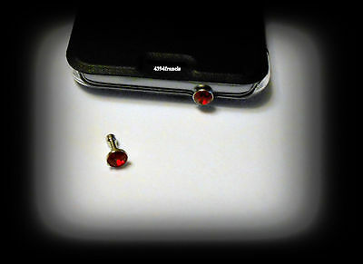 Bijou BRILLANT ROUGE Protection Prise Jack Smartphone Android MP3 Red Plug