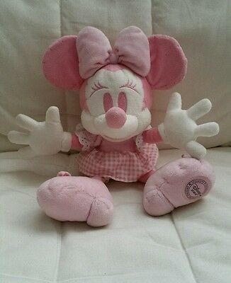 Disney store Minnie mouse in pink gingham dress