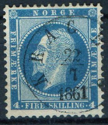 Four Skilling Oscar The First With Nice Cds. Kragerø 22-7-1861