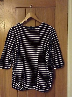 New Look stripe maternity top size 14