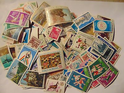 Roumania a collection of 290 different used stamps as picture off paper