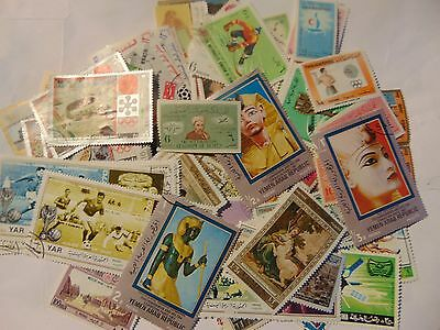 Middle East  a collection of 110 different used stamps as picture off paper