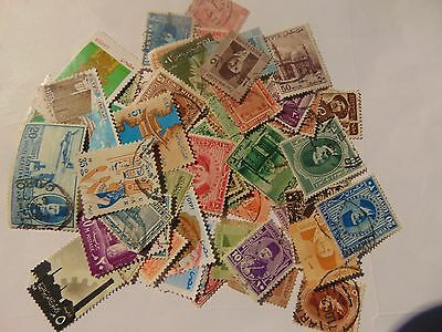Egypt  a collection of 60+ different used stamps as picture off paper