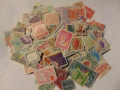 South America  a collection of 190+ different used stamps as picture off paper