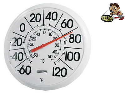 Outdoor Thermometer Large Dial Weather Temperature Patio Wall Garden Decor