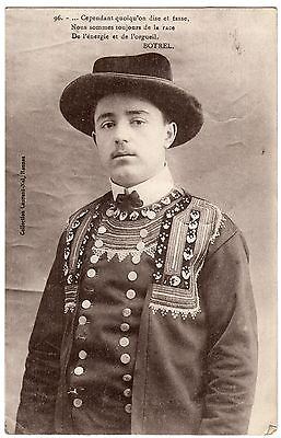 Postcard French Singer Poet Playwright Theodore Botrel WW1 Bard of Armies