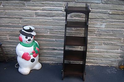 ,Arts & Crafts EraTall Oak Shelf Stand For Books Or Mags Nice Condition   FRESH