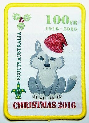 SPECIAL 100 Years Cub Scouts, 2016 CHRISTMAS SCOUT BADGE, Scouts Australia
