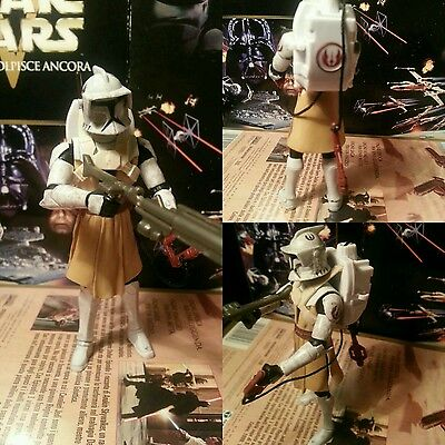 star wars action figure clone wars  mode. b very rare complite pack stormtrooper