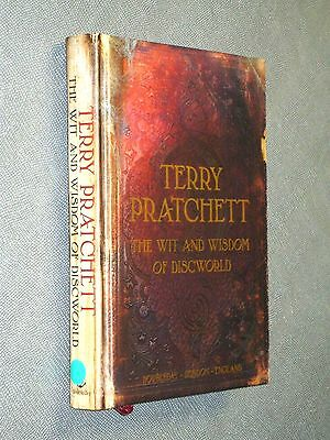 The Wit and Wisdom of Discworld by, Terry Pratchett signed 1st hardback rare VGC