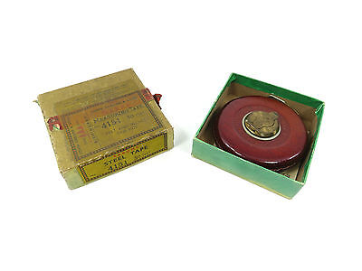 Boxed Rabone No.4151 Leather Cased Steel Measure Tape