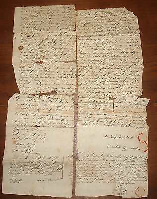 Antique Historic Document Land Indenture Deed Buffalo Pennsylvania 1787