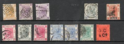 HONG KONG VICTORIA COLLECTION TO 30c - ALL FINE USED