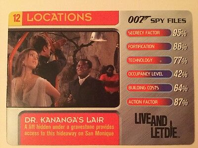 Dr. Kananga's Lair Live And Let Die #12 Locations 007 James Bond Spy Files Card