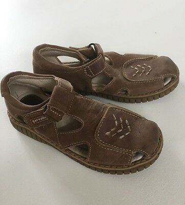Boy's Garvalin Brown Leather Shoes