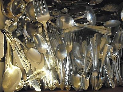 150 Pc Mixed Lot Silverplate/Antique Flatware/Serving   #103