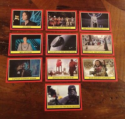 2016 TOPPS Star Wars ROGUE ONE Mission Briefing Complete Base Set and Box