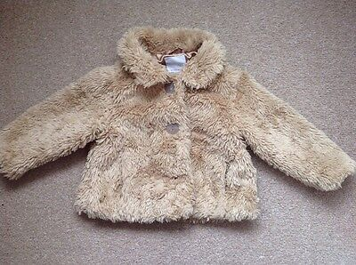 Baby Girl Age 18-24 Months Coat ~ Tan Beige ~ Good Condition ~ Next