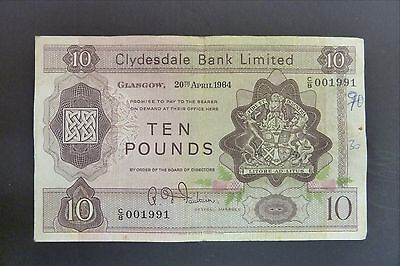 Clydesdale Bank Limited £10  1964