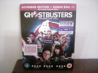GHOSTBUSTERS BLU-RAY Extended edition + bonus. New & Sealed