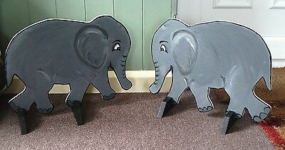 2 x ELEPHANT shaped Horse show jump fillers or wings pony show farm events.
