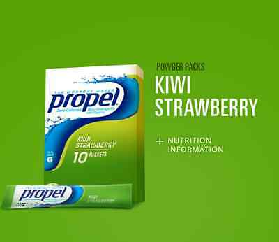 6 Boxes Of Propel Flavored Water Powder Mix - Kiwi Strawberry - 60 Servings