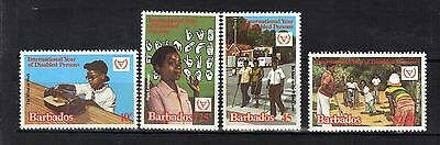 Barbados.year Of The Disabled Person 1981 Mnh