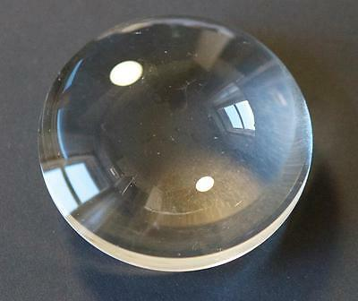 vintage 2.5 inch convex lens - glass lens projection, magic lantern, scientific