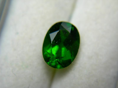 rare untreated top GREEN Chrome Diopside Russia gem Russian gemstone oval D66