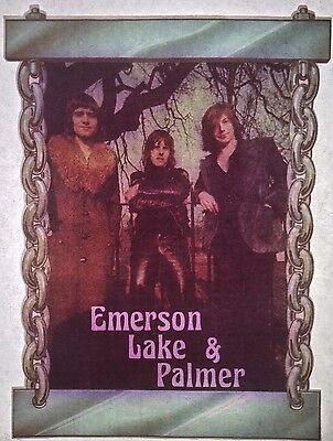 Vintage 70s Emerson Lake & Palmer Iron-On Transfer Progressive Rock RARE!