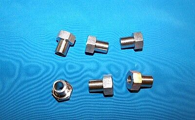 Adjustable bushing 6-pack for #2 V-groove brng RM2-2RS Stnls stl 3/8 OD x 1/4 ID