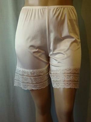Vintage Silky Sheer Cream Nylon French Knickers Pantie Xl