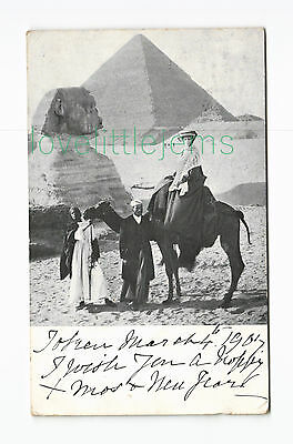 c1900 Egypt The Sphinx & Great Pyramid