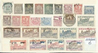 French Tunisia 1889/1945 : Small Collection Older Used Stamps