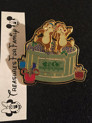 Disney LE Pin WDW EPCOT Food & Wine Festival 2004 Chip and Dale FREE SHIP