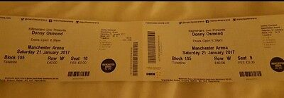 DONNY OSMOND tickets!! 2 Tickets For 21st January At Manchester Arena Block 105!