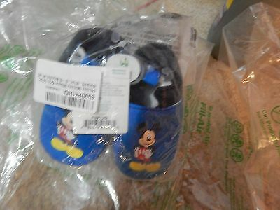 Disney NWT baby boys' blue/black/Mickey crib  shoes, size 0-6 months