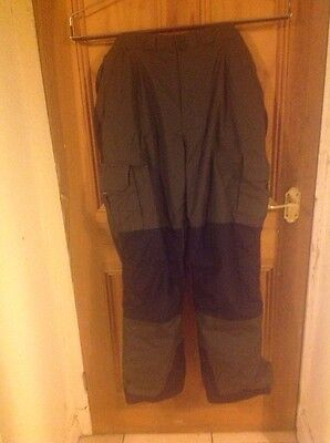 REDUCED: Greys Grx All Weather Trousers With Braces, Size Xl