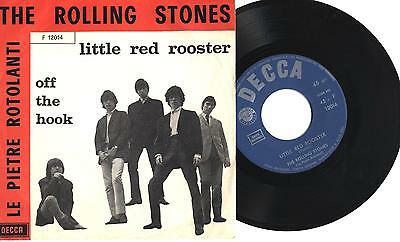 "ROLLING STONES - Little red rooster - Off the hook - 7"" 45gg ITA EX/EX 1964"